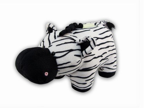 Puzzled Plush Zebra Huggie Bank