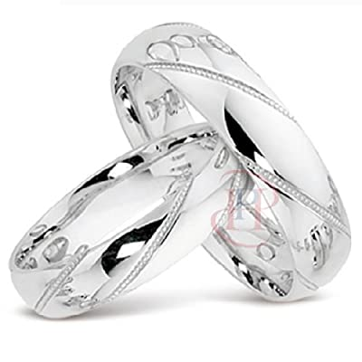 The Trulove Range - Argentium Silver 5MM Matching Wedding Ring Set MADE TO ORDER (SIZE H-Z+4) FREE ENGRAVING
