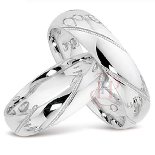 The Trulove Range - Argentium Silver 6MM & 4MM Matching Wedding Ring Set MADE TO ORDER (Size H-Z+4) FREE ENGRAVING