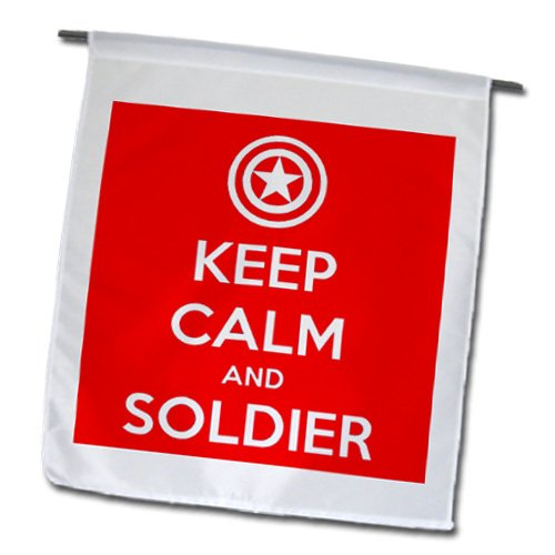 Evadane - Quotes - Keep Calm And Soldier On. Red. - Flags - 12 X 18 Inch Garden Flag - Fl_194306_1 front-232850