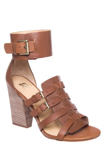 Joe's Jeans Marley High Block Heel Ankle Cuff Gladiator Sandal