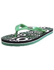 Ooz Men's Green Rubber Flip Flops - B016A8DTE4