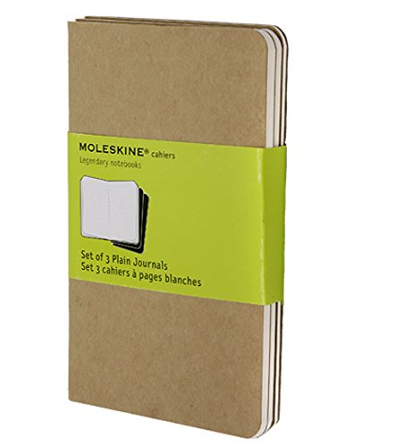 Moleskine Cahier Journal (Set of 3), Pocket, Plain, Kraft Brown, Soft Cover (3.5 x 5.5): set of 3 Plain Journals (Drawing Pad Small compare prices)