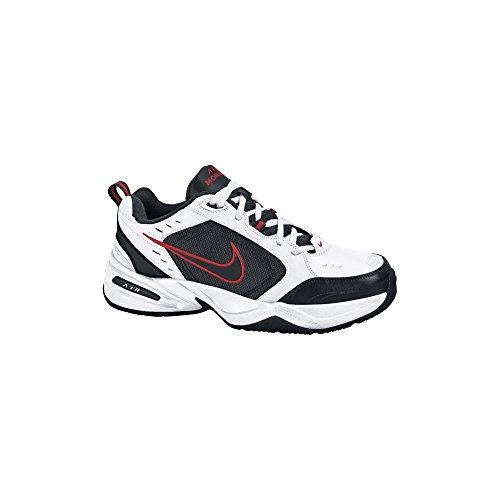 Nike Men's NIKE AIR MONARCH IV RUNNING SHOES 10.5 (WHITE/BLACK/VARSITY RED)