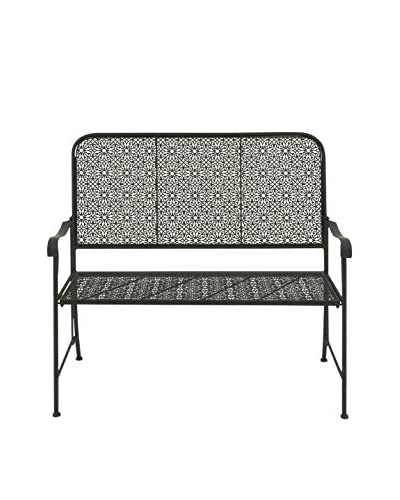 Metal Flower Bench, Multi