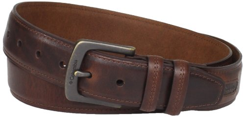 Columbia Men's Big & Tall 40mm Oil Tan Leather Edge Belt, Brown, 48 (Extended Size)