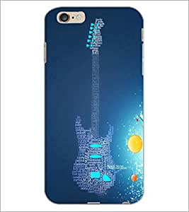 PrintDhaba Typographic Guitar D-3452 Back Case Cover for APPLE IPHONE 6S PLUS (Multi-Coloured)