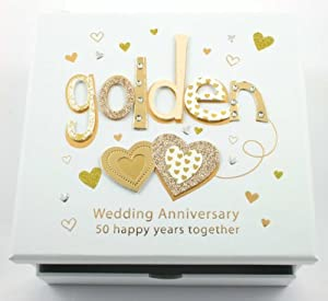 Golden Wedding Gift Box : ... Golden Wedding Anniversary Photo Album & Keepsake Box Gift TP15150