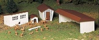 Bachmann Trains Farm Out-Buildings - 3/Box
