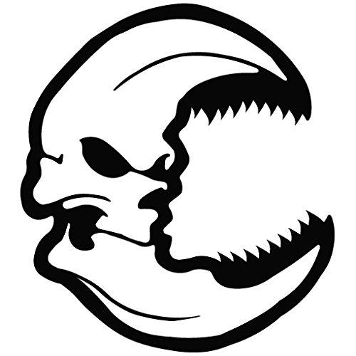 Moon Evil Spirit - Tribal Decal Vinyl Removable Decorative Sticker for Wall, Car, Ipad, Macbook, Laptop, Bike, Helmet, Small Appliances, Music Instruments, Motorcycle, Suitcase