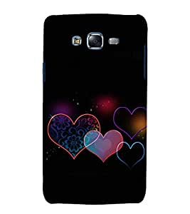 printtech Love Hearts pattern Back Case Cover for Samsung Galaxy Grand Max G720