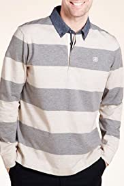 Blue Harbour Block Striped Polo Shirt [T28-2542B-S]