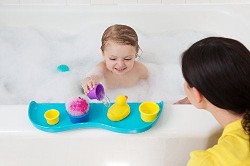 Shelfie Bath Toy Organizer Bath Shelf, Aqua Blue