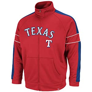 MLB Texas Rangers Home Field Advantage Track Jacket, Red Royal White by Majestic