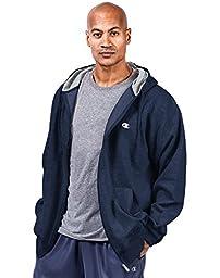 Champion Big & Tall Men\'s Zip Fleece Hoodie-XLT-Navy