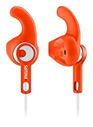 Philips SHQ1300OR/00 ActionFit Sports Headphones (Orange)