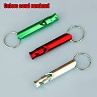 ZITRADES 3pcs Emergency Hiking Camping Survival Aluminum Whistle Key Chain With Red/Green/Blue Color BY ZITRADES by ZITRADES