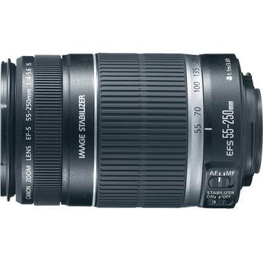 Canon EF-S 55-250mm f/4.0-5.6 IS Telephoto Zoom Lens for Canon Digital SLR Cameras + Lens Cleaning Kit