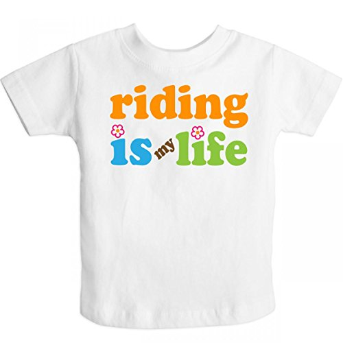 Inktastic Little Boys' Riding Is My Life Toddler T-Shirt 2T White
