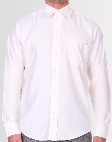 Kear and Ku Mens Formal White Shirt : White - 15.5