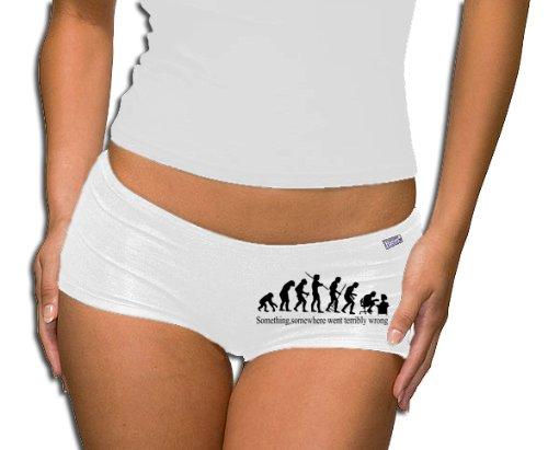 Something, Somewhere... Panty-Short S-XXL, Unisex adulto, bianco, XXL