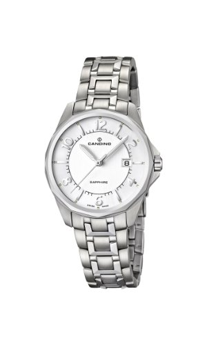 Candino Women's Quartz Watch with Silver Dial Analogue Display and Silver Stainless Steel Bracelet C4492/2