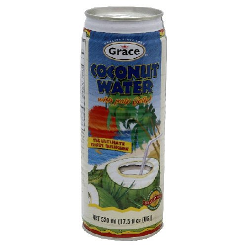 Grace Coconut Water With Pulp, 17.5oz