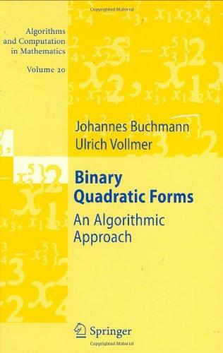 Binary Quadratic Forms: An Algorithmic Approach: 20 (Algorithms and Computation in Mathematics)
