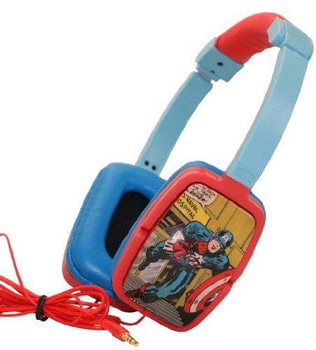 Marvel Swivel Stereo Headphones - Captain America (Retro)