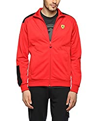 Puma Men's Synthetic Track Jacket (4056207092665_76198101_X-Large_Rosso Corsa)