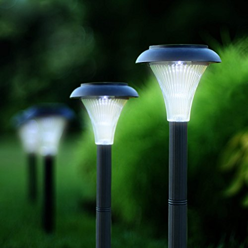 set of 10 solar powered led garden lights perfect for