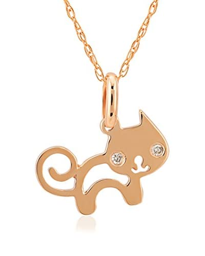Divas Diamond Set catenina e pendente Diamond Gold Cat