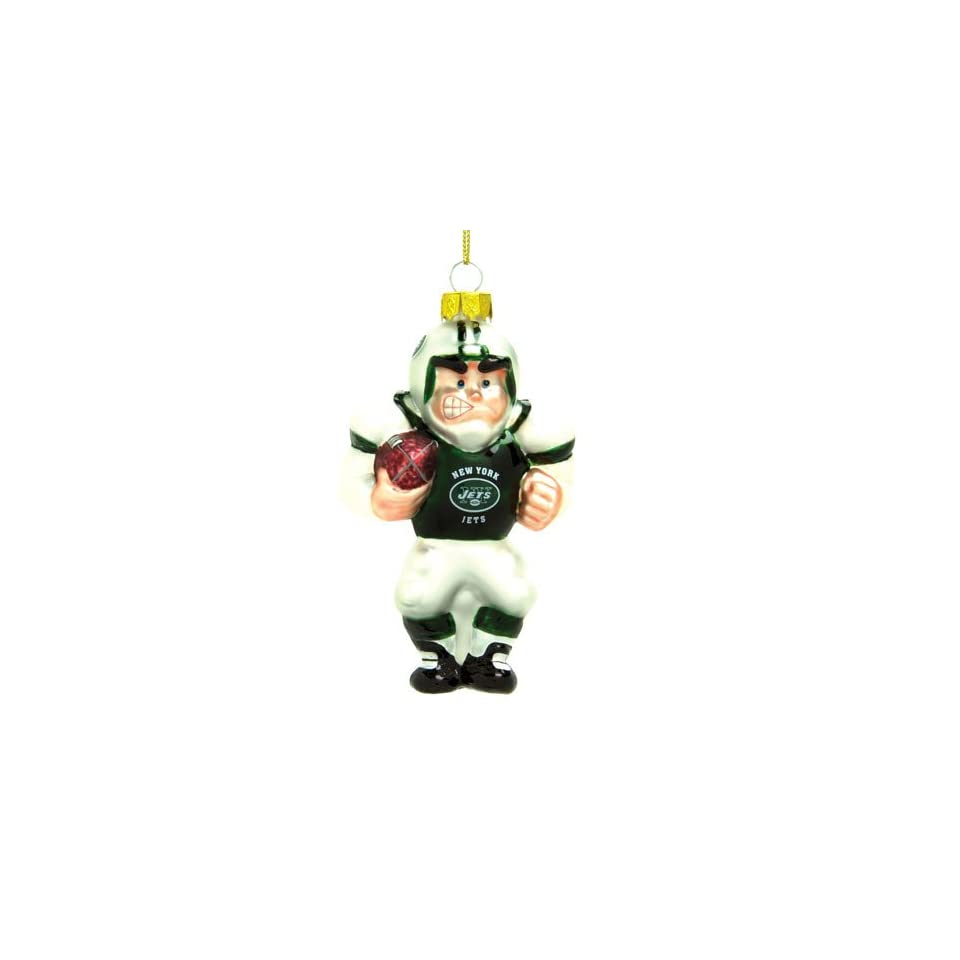 York Jets NFL Glass Player Ornament (5 Caucasian)