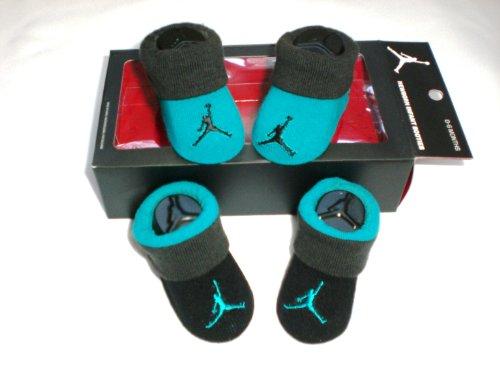 Nike Air Jordan Newborn Baby Booties, Teal, Size 0-6 Months