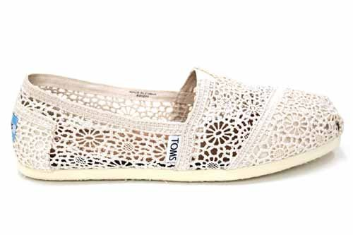 F1670Nat Toms Classics Womens Crochet Espadrilles Shoes Us 8 Uk6