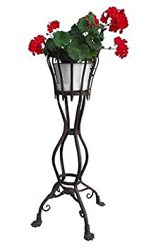 Casa Padrino camas de flores de hierro forjado - diversos colores - Ø30 cm x H102 cm - muebles de jardín de lujo, color:vintage white