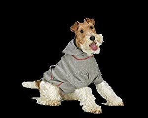 Thermal Hoodie Dog Sweater - 3 Extra Large - Gray