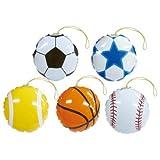 パンチボールスポーツパンチボール(約170mm5種アソート) 25個単位  / お楽しみグッズ(紙風船)付きセット [おもちゃ&ホビー]