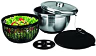 Salad Spinner. Deluxe Stainless Steel…