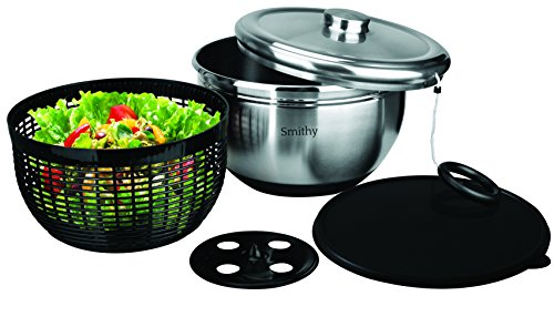The Smithy Co. Stainless Steel Salad Spinner with Serving