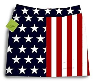 Loudmouth Golf Ladies Skort: Stars & Stripes - Size 0 by Loudmouth Golf