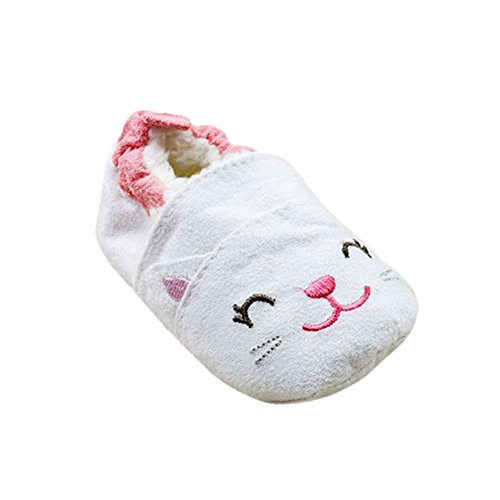 Weixinbuy Baby Girls Cute Cartoon Cat Pattern Toddler Soft Sole Shoes L front-12411