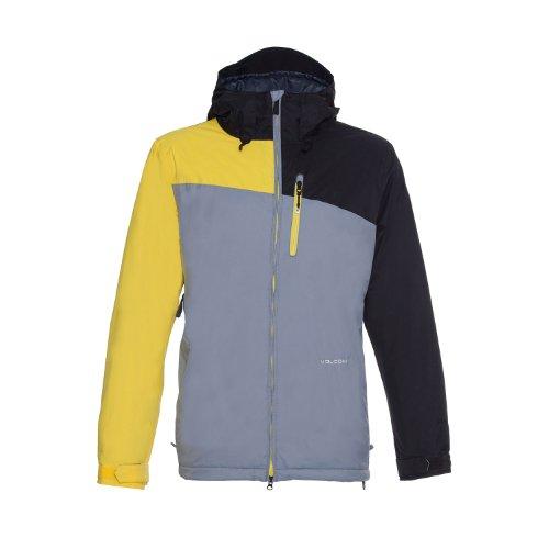MDA4V7N Volcom Shadow Insulated Snowboard Jacket Yellow Mens Sz XL