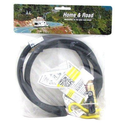 RV Flexible Hose Propane Connect Side Kick BBQ to RV Hook Up Kit with Quick Turn On/Off Valve (48