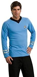 WMU Star Trek Classic Blue Shirt Medium