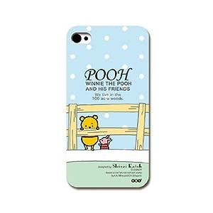 iPhone4S/4ケース Disney/プーさん(青色)