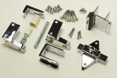 "Inswing Hardware Pack for Mounting 1"" Toilet Partition Doors"