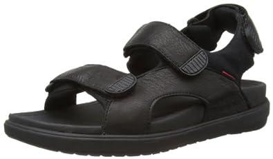 Fitflop Men's Landsurfer Sandals, Black, 11 UK