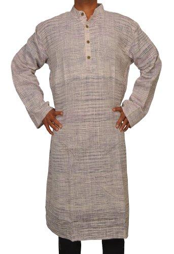 Casual Wear Indian Khadi Mens Long Kurta Fabric For Winter & Summers Size-7XL