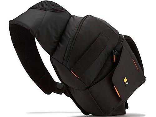 Case Logic Compact Nylon Sling Bag with EVA Protection, Hammock and Extra Pockets for SLR Camera - Black